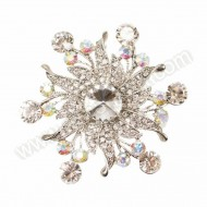 Floral Star Ribbon Brooch - 75mm