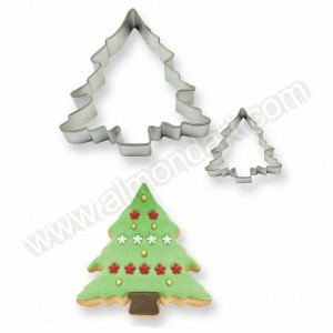 Christmas Tree Cookie & Cake Cutter - 2pc