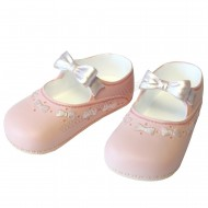 Resin Large Shoes Topper - Pink with Bow - D
