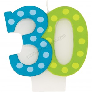 30 Bright & Bold Number Birthday Candle