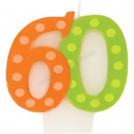 60 Bright & Bold Number Birthday Candle