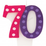 70 Bright & Bold Number Birthday Candle