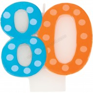 80 Bright & Bold Number Birthday Candle