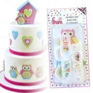 Mummy & Baby Owl Cutter Set - 4 Piece