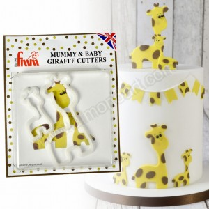 Mummy & Baby Giraffe Cutter Set - 2 Piece
