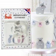Mummy & Baby Hippopotamus Cutter Set - 2 Piece