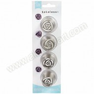 Bakeless Flower Nozzles - Set of 4