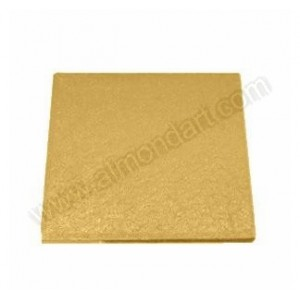 Square Gold Cake Drums