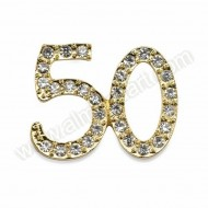 Small Gold 50 Diamante Decoration