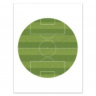 "Football Pitch Edible Icing Sheet - 7½"" Round"