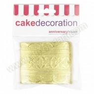 "Gold Cake Frill - 2½"" x 36"""