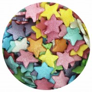 Large Rainbow Glimmer Star Sprinkles - 60g