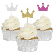 Crown Cupcake Toppers - 12pk