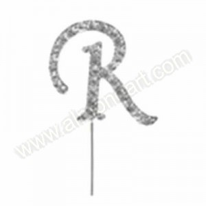 Letter R Diamante Pick