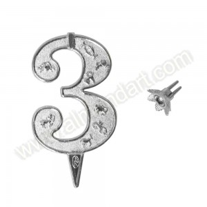 """3"" Silver Candle Holder"