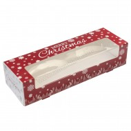 "9"" x 3"" x 2"" - Christmas Mince Pie Window Box & Insert"