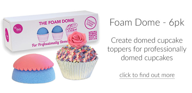 Foam Domes - For Domed Cupcakes - 6pk