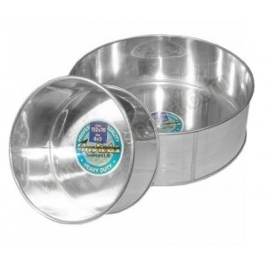 "12"" Round Fixed Base Tin"