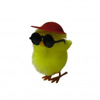 Chick in Baseball Cap & Sunglasses - 3pk