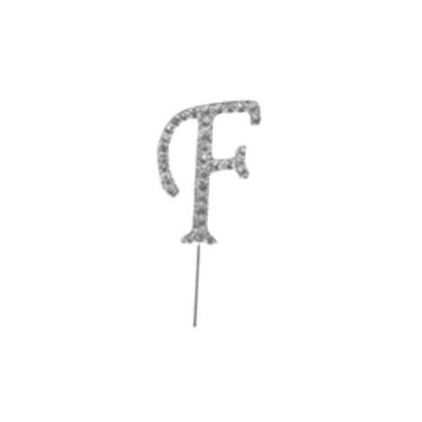 Letter F Diamante Pick