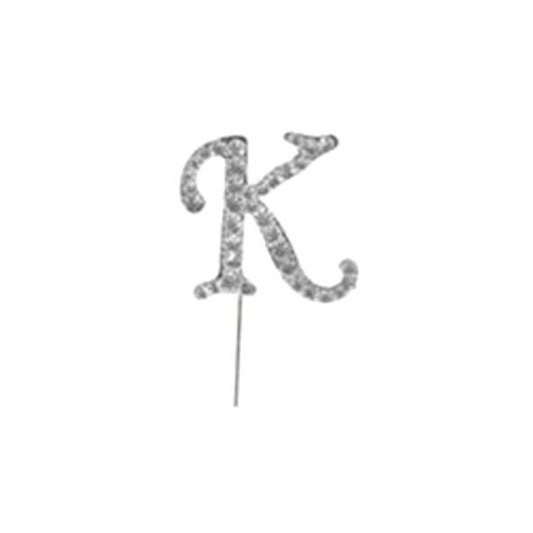 Letter K Diamante Pick