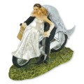 Bride & Groom on Bicycle Cake Topper