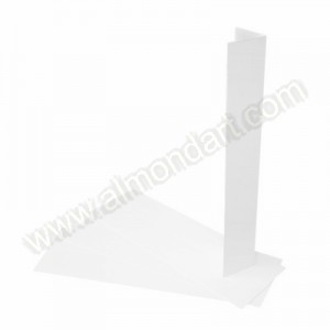 White Wedding Cake Box Corner Extensions - 4pk
