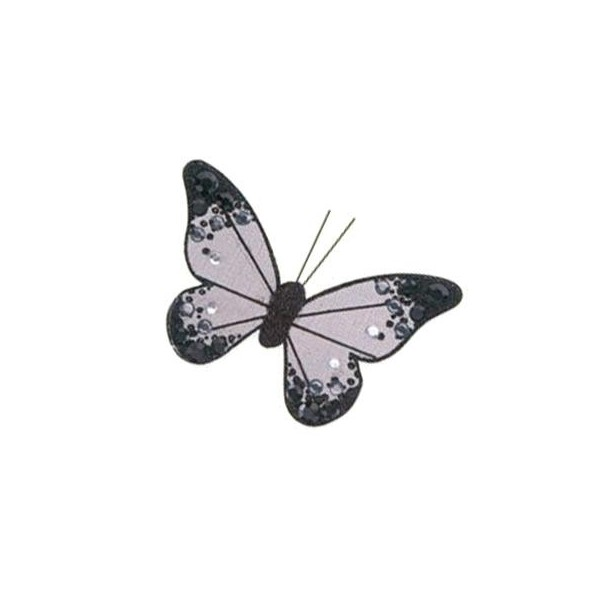 Black Organza Butterfly with clip