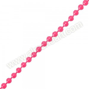 Fuchsia Pearls On A String - 5mm x 1m