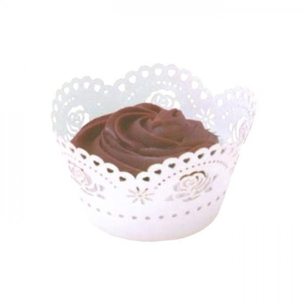White Rose Cupcake Wrappers - 12pk