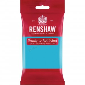 Renshaw Turquoise Ready To Roll Icing - 250g
