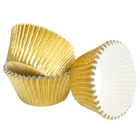 Gold Foil Muffin Cases - 64pk