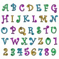 'Funky' Alphabet & Number Set