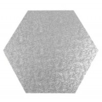 "14"" Hexagonal Cake Drum - (flat to flat)"