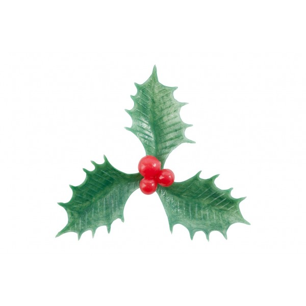 Large Plastic Holly - 60mm Dia