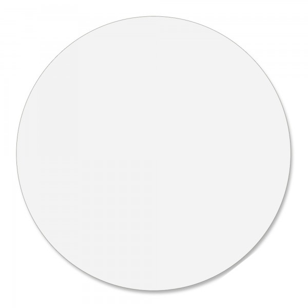 "11"" Round White Polycoated Card"