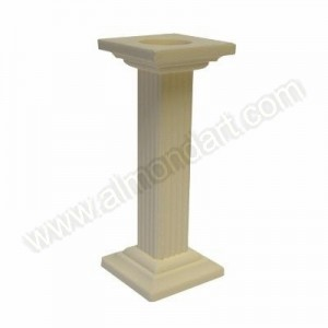 Ivory Square Plasteryte Pillar - Single