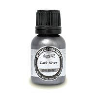 Dark Silver - Metallic Food Paint - 25ml