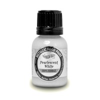 Pearlescent White - Metallic Food Paint - 25ml