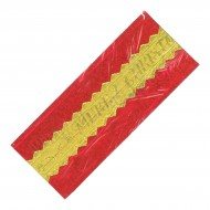 Red/Gold Merry Christmas Foil Cake Frill