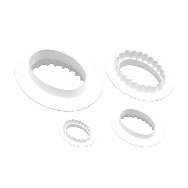 Oval Double Sided Cutters - Set of 4