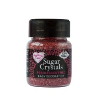 Pearlescent Red Sparkling Sugar Crystals - 50g