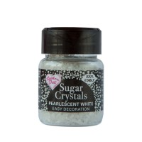 Pearlescent White Sparkling Sugar Crystals - 50g