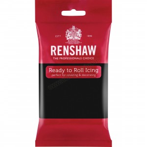 Renshaw Jet Black Ready To Roll Icing - 250g