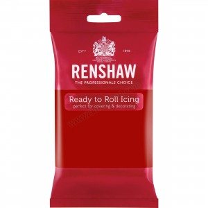 Renshaw Ruby Red Ready To Roll Icing - 250g