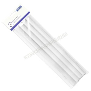 "White (Invisible) Plastic Hollow Dowel - 12"" Pk/4"