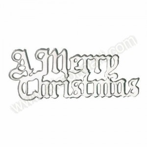 "Silver ""A Merry Christmas"" Motto"