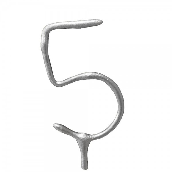 Silver Number '5' Sparkling Candle