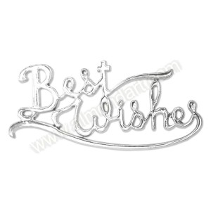 'Best Wishes' Silver Effect Motto