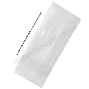 25 Confectionery Bags With Ties - 100mm x 240mm